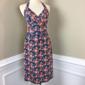 Kay Unger Open Back Halter Silk Dress 2